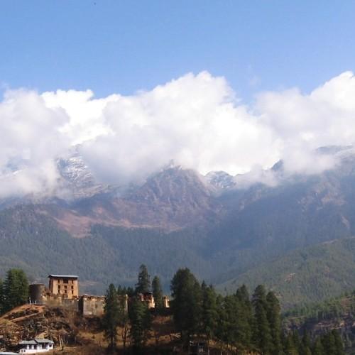 drugyal dzong & eastern himalaya range
